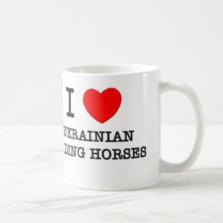 J'aime les chevaux d'équitation ukrainiens (les ch tasse à café