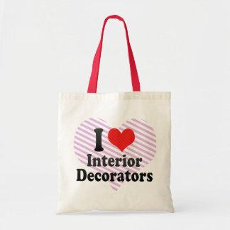 J'aime les décorateurs intérieurs sac en toile