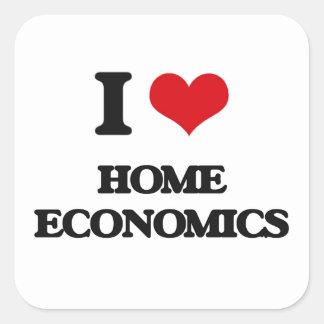 J'aime les économie ménagères sticker carré