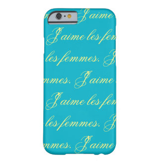 J'aime les femmes chic statement on teal barely there iPhone 6 case