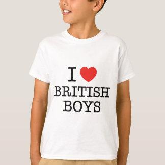 J'aime les garçons britanniques tee-shirt