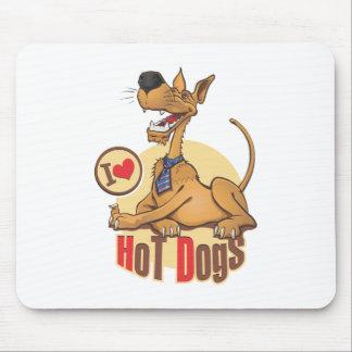 J'aime les hot-dogs tapis de souris