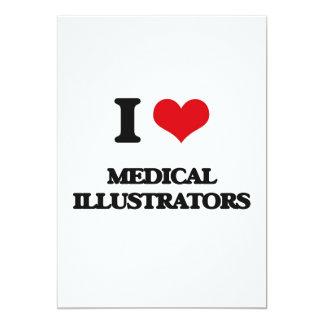 J'aime les illustrateurs médicaux invitations personnalisées