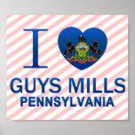 J'aime les moulins de types, PA Posters