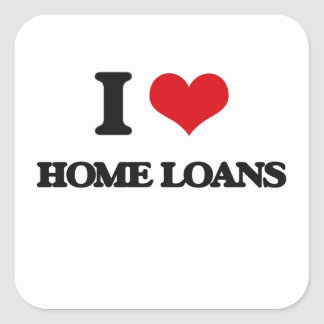 J'aime les prêts immobiliers sticker carré