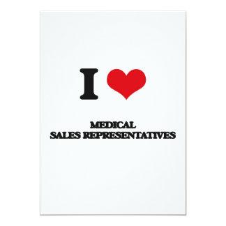 J'aime les représentants de commerce médicaux invitation