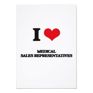 J'aime les représentants de commerce médicaux invitations personnalisées
