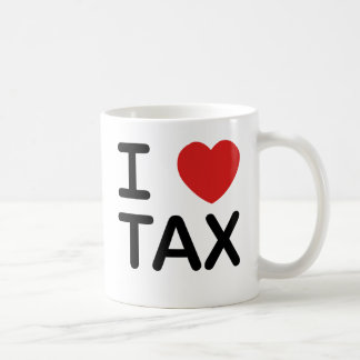 J'aime l'impôt mug à café