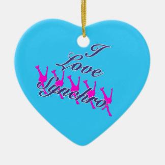 J'aime l'ornement synchro - votre dos de nom ornement cœur en céramique