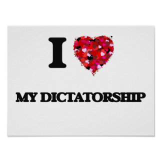 J'aime ma dictature poster