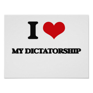 J'aime ma dictature affiches