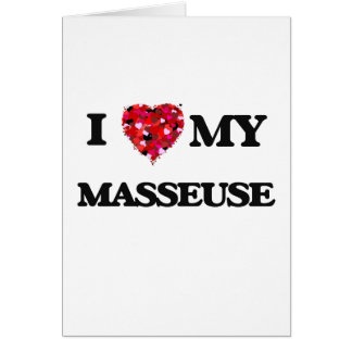 J'aime ma masseuse carte de vœux