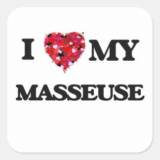 J'aime ma masseuse sticker carré