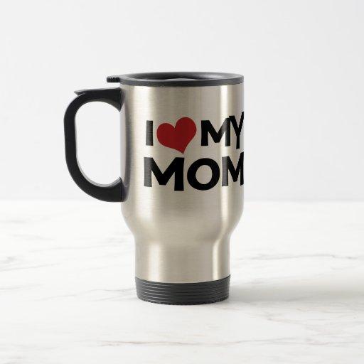 J'aime ma tasse de voyage du jour de mère de maman