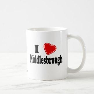 J'aime Middlesbrough Mug Blanc
