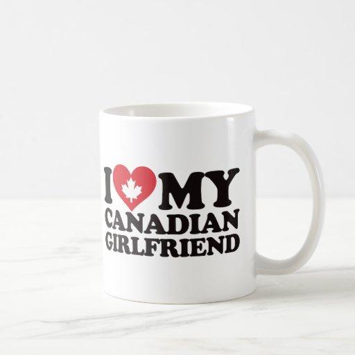 J'aime mon amie canadienne tasses