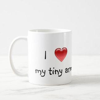 J'aime mon arms/T-REX minuscule Mug Blanc