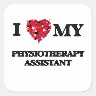 J'aime mon assistant de physiothérapie sticker carré