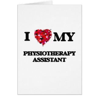 J'aime mon assistant de physiothérapie carte de vœux