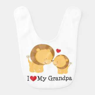 J'aime mon bavoir de nourrisson de bébé de grand-p