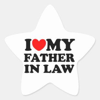 J'aime mon beau-père sticker étoile