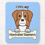 J'aime mon berger australien tapis de souris