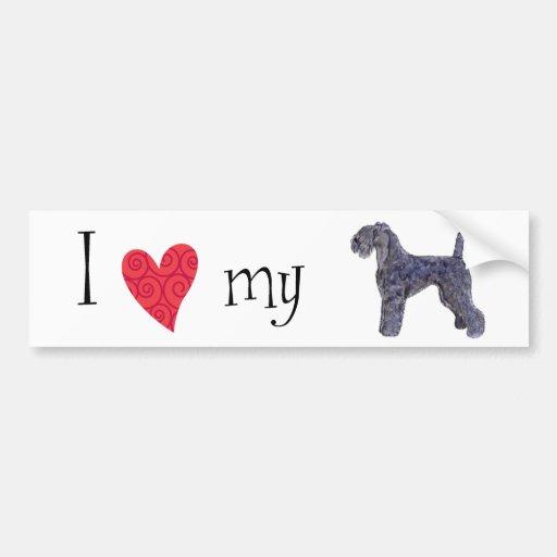 J'aime mon bleu de Kerry Terrier Adhésif Pour Voiture
