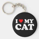 J'aime mon chat porte-clés