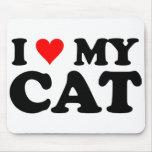 J'aime mon chat tapis de souris