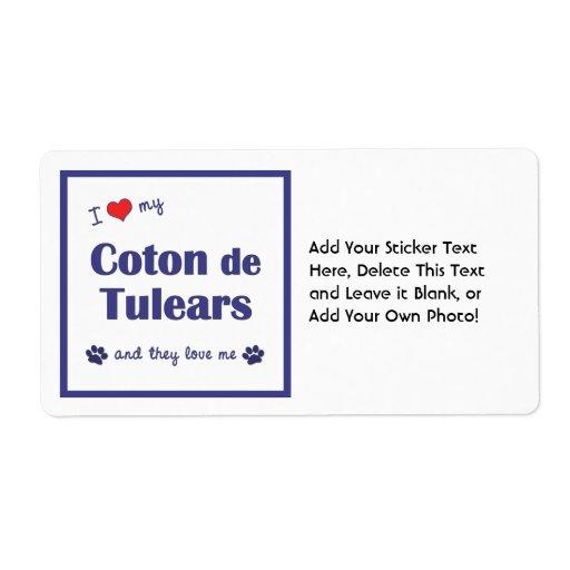 J'aime mon coton de Tulears (les chiens multiples) Étiquettes D'expédition