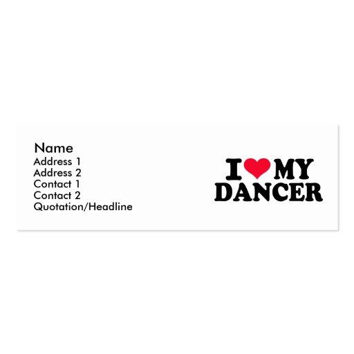 J'aime mon danseur carte de visite