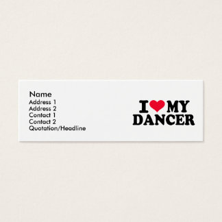 J'aime mon danseur mini carte de visite
