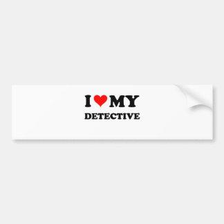 J'aime mon détective autocollant de voiture