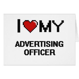 J'aime mon dirigeant de la publicité carte de correspondance