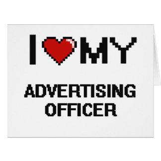 J'aime mon dirigeant de la publicité carte de vœux grand format