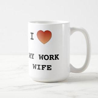 J'aime mon épouse de travail mug blanc