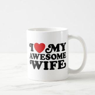 J'aime mon épouse impressionnante mug blanc