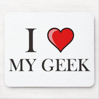 J'aime mon geek tapis de souris