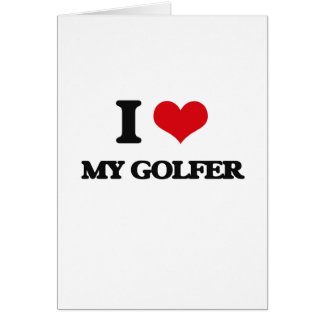 J'aime mon golfeur cartes