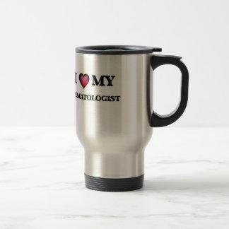 J'aime mon hématologue mug de voyage