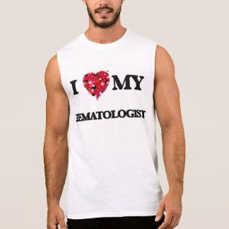 J'aime mon hématologue t-shirts sans manches