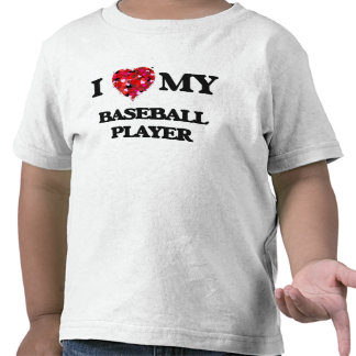 J'aime mon joueur de baseball t-shirt