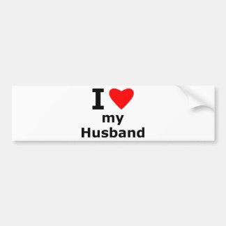 J'aime mon mari autocollant de voiture