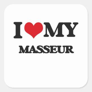 J'aime mon masseur autocollant