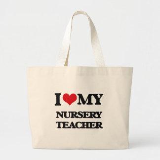 J'aime mon professeur de crèche sac en toile