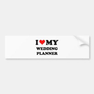 J'aime mon wedding planner adhésifs pour voiture