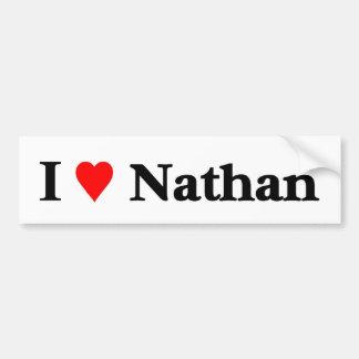 J'aime Nathan Autocollant De Voiture