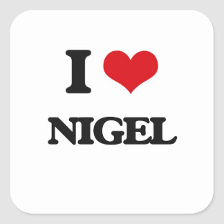 J'aime Nigel Sticker Carré