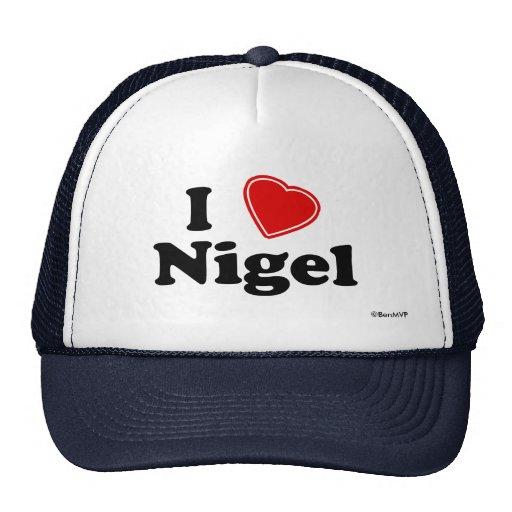 J'aime Nigel Casquette