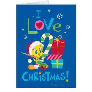 J'aime Noël - TWEETY™ Carte De Vœux